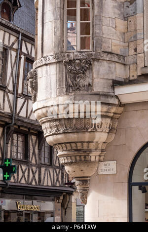 Rue de la Liberte Dijon Cote-d'Or  Bourgogne-Franche-Comte France - Stock Photo