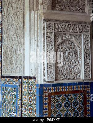 Wall art,Casa Pilatos,Sevilla,Spain - Stock Photo