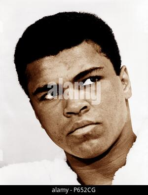 Muhammad Ali (born Cassius Clay, Jr.; January 17, 1942) American former professional boxer, considered among the greatest heavyweights in the sport's history. - Stock Photo