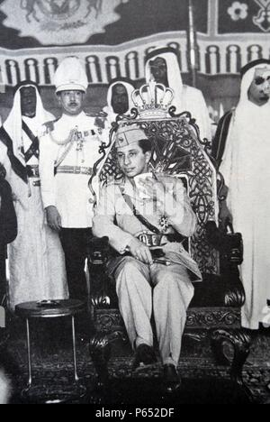 Faisal II (1935 – 14 July 1958) was the last King of Iraq. He reigned from 4 April 1939 until July 1958, when he was murdered during the 14 July Revolution - Stock Photo