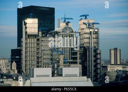 Lloyd's Building, City of London, UK. Designed by Richard Rogers Partnership. - Stock Photo