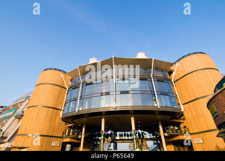 Lord Sefton and Earl of Derby stand, Aintree racecourse, Liverpool, United Kingdom - Stock Photo