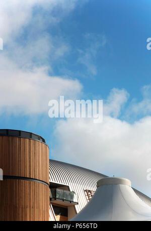 Roof of Aintree racecourse, Liverpool, UK - Stock Photo