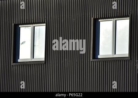 The Texture Of Corrugated Metal Sheet White Or Grey Slide