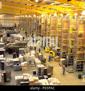 Inside view of Boots warehouse, Nottingham, England - Stock Photo