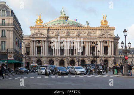 The Palais Garnier Opera House in Paris France - Stock Photo