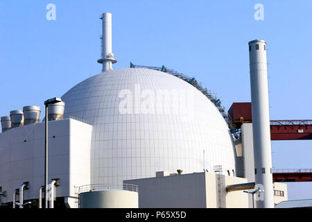 Nuclear power plant in Brokdorf, northern Germany. - Stock Photo