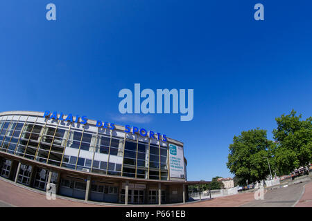 Lyon Sports Hall, Gerland district, Lyon, France - Stock Photo