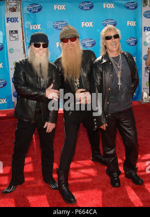 ZZ Top -  American Idol  Finale 2008 at the Nokia Theatre In Los Angeles.  Celebrity, Entertainment, Musician, full length eye contact smile sun glass          -            ZZ Top_24.jpgZZ Top_24  Event in Hollywood Life - California, Red Carpet Event, USA, Film Industry, Celebrities, Photography, Bestof, Arts Culture and Entertainment, Topix Celebrities fashion, Best of, Hollywood Life, Event in Hollywood Life - California, Red Carpet and backstage, ,Arts Culture and Entertainment, Photography,    inquiry tsuni@Gamma-USA.com ,  Music celebrities, Musician, Music Group, 2000 to 2009 - Stock Photo