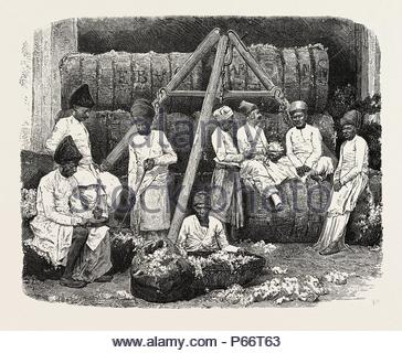 PARSEE COTTON MERCHANTS OF BOMBAY, INDIA. - Stock Photo