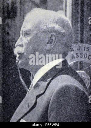 Spanish civil war: Alejandro Lerroux y GarcÃa1864/1866 â€ì Madrid, 25 June 1949) Spanish politician who was the leader of the Radical Republican Party during the Second Spanish Republic. served as Prime Minister of Spain three times from 1933 to 1935. The word Lerrouxism (Spanish: Lerrouxismo, Catalan: Lerrouxisme) was coined after this politician's name. It used to define a kind of virulent, and often demagogic anti-Catalan trend among Spanish politicians - Stock Photo