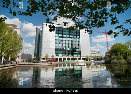Global Switch 2 Data Centre in Canary Wharf - East India Docks - Stock Photo