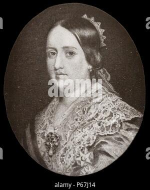 Dona Maria II (4 April 1819 – 15 November 1853) 'the Educator' Queen regnant of Portugal from 1826 to 1828 and again from 1834 to 1853. - Stock Photo