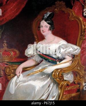 Dona Maria II (4 April 1819 – 15 November 1853) by John Simpson. Maria 'the Educator' Queen regnant of Portugal from 1826 to 1828 and again from 1834 to 1853. - Stock Photo