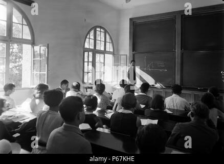 The Hebrew University. Class in mathematics. Einstein Institute - Stock Photo