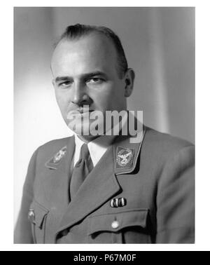 Photograph of Wilhelm Frick (1877-1946)  German politician of the Nazi Party, who served as Reich Minister of the Interior in the Hitler Cabinet. Dated 1933 - Stock Photo
