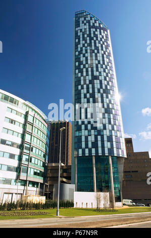 Beetham West Tower, Brook Street, Liverpool Business District, UK. Liverpool's tallest building - Stock Photo