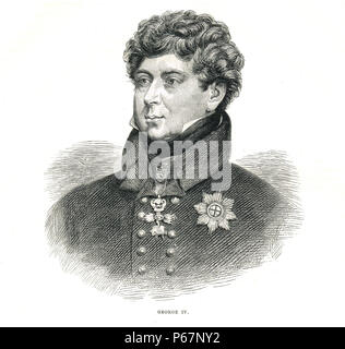 King George IV of the United Kingdom of Great Britain and Ireland, 1762-1830, reigned 1820-1830 - Stock Photo