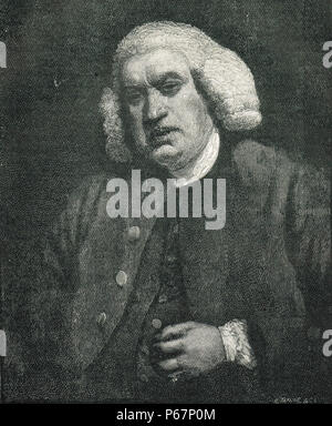 Dr Samuel Johnson, 1709-1784, poet, essayist, moralist, literary critic, biographer, editor, lexicographer - Stock Photo