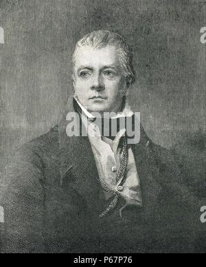 Sir Walter Scott, 19th century, novelist, author of Historical Romance novels - Stock Photo