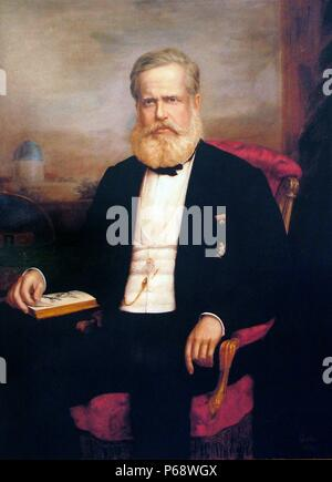 Dom Pedro II (1825 – 5 December 1891), 'the Magnanimous', was the second and last ruler of the Empire of Brazil, reigning for over 58 years from 1831-1889 - Stock Photo