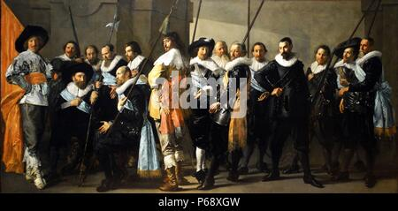 Militia Company of District XVIII under the Command of Captain Albert Bas. Painted by Frans Hals (1582-1666) Dated 17th Century - Stock Photo