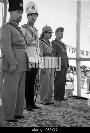 Photograph of Coronation of King Abdullah, in Amman Jordan. Dated 1946 - Stock Photo