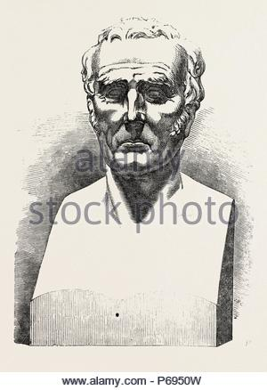 COLOSSAL BUST OF HIS GRACE THE DUKE OF WELLINGTON, BY BEHNES. - Stock Photo