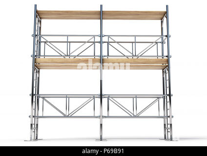 A scaffold illustration made in 3D software. - Stock Photo