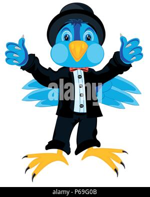 Bird in suit - Stock Photo