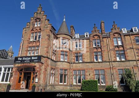 Station Hotel, 1 Leonard St, Perth, Scotland, UK,  PH2 8HE - Stock Photo