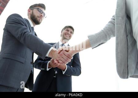 Handshake of business partners before the talks. - Stock Photo