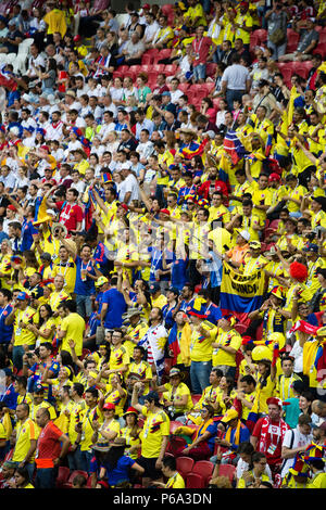 Colombia defeats Poland at World Cup Russia 2018 in Kazan Arena on 25 June 2018. - Stock Photo