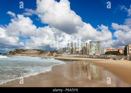 Newcastle beach - One of Newcastle's beautiful beaches on a lovely sunny day. Newcastle is Australia's second oldest city and second largest in New So - Stock Photo