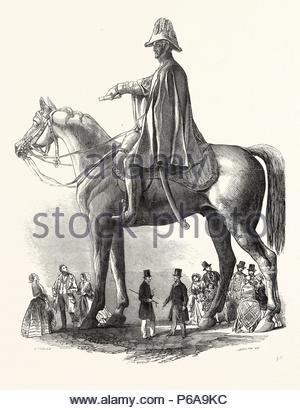 COLOSSAL STATUE OF THE DUKE OF WELLINGTON, BY M.C. WYATT, ESQ., 1846. - Stock Photo