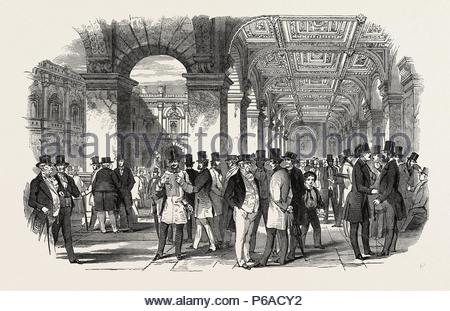 THE MERCHANTS' WALK (SOUTH WEST ANGLE), ROYAL EXCHANGE. UK, 1847. - Stock Photo