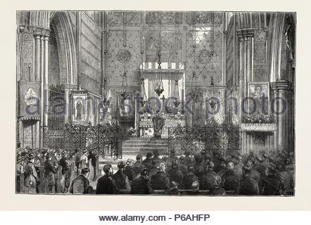 EASTERTIDE IN THE CHURCH OF ST. ALBANS, HOLBORN, LONDON, UK. - Stock Photo