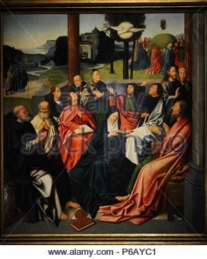 Descent of the Holy Spirit. Haarlem?. Late 15th century. Anonymous. Catharijneconvent Museum. Utrecht. Netherlands. - Stock Photo