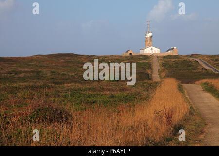 France, brittany, Finistere department, region cap Sizun, Plogoff, Pointe du Raz - Stock Photo