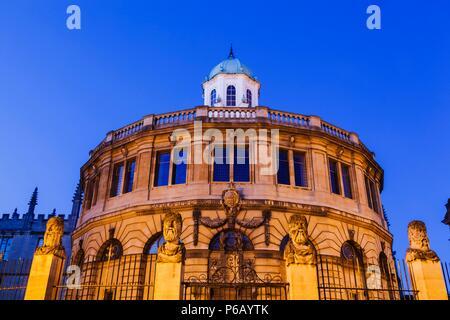 England, Oxfordshire, Oxford, Sheldonian Theatre - Stock Photo