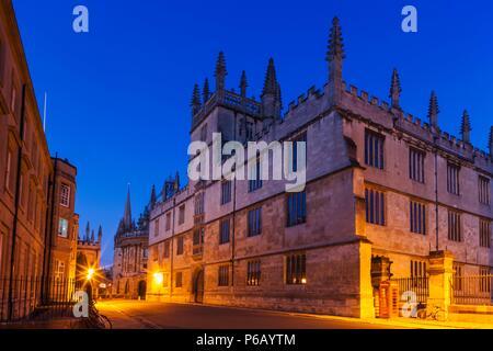 England, Oxfordshire, Oxford, Bodleian Library - Stock Photo