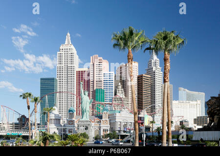 USA. Nevada. Las Vegas. Las Vegas Boulevard. Casino New York. - Stock Photo