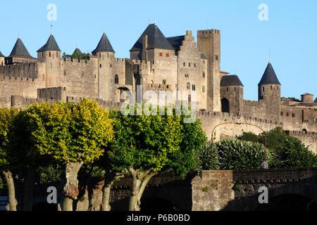 France, Occitanie, Languedoc, Aude department(11), Carcassonne, medieval city, (Unesco world heritage) - Stock Photo