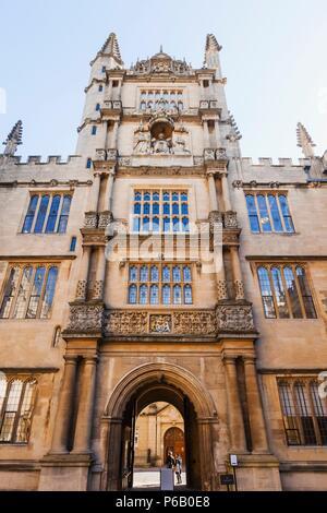 England, Oxfordshire, Oxford, Oxford University, Bodleian Liibrary - Stock Photo