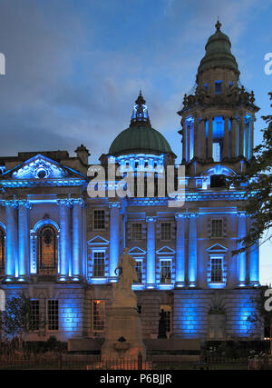 UK, Northern Ireland, Belfast, City Hall, Titanic Memorial, - Stock Photo