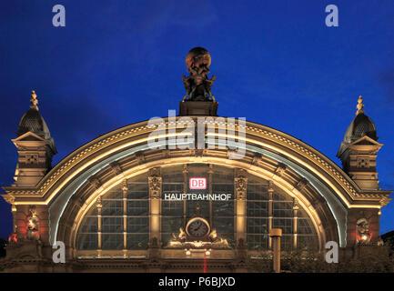 Germany, Hessen, Frankfurt am Main, Hauptbahnhof, Main Railway Station, - Stock Photo