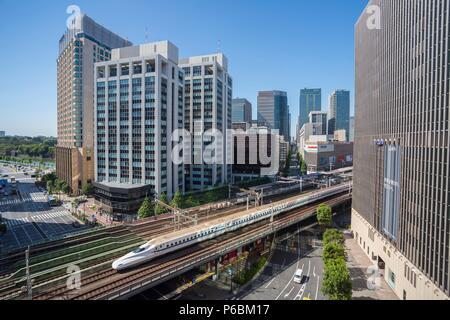 Japan, Tokyo City, Ginza Area, Harumi Avenue - Stock Photo