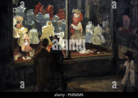 Isaac Israels (1865-1934). Dutch painter. Shop Window, 1894. Rijksmuseum. Amsterdam. Holland. - Stock Photo