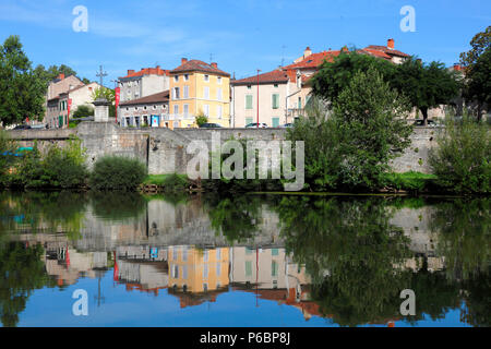 France, Occitanie, Lot department (46), Cahors and Lot river - Stock Photo