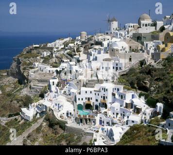 Greece, Cyclades, Santorini, Ia, - Stock Photo